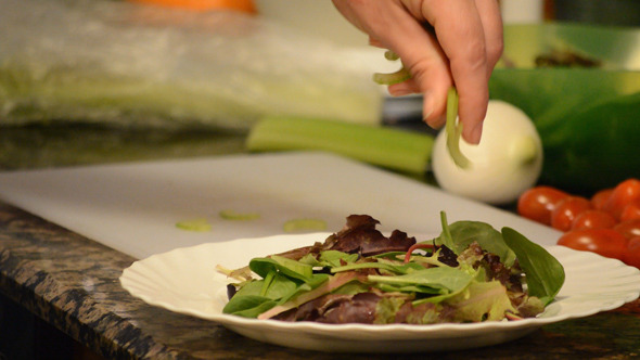 Topping With Celery