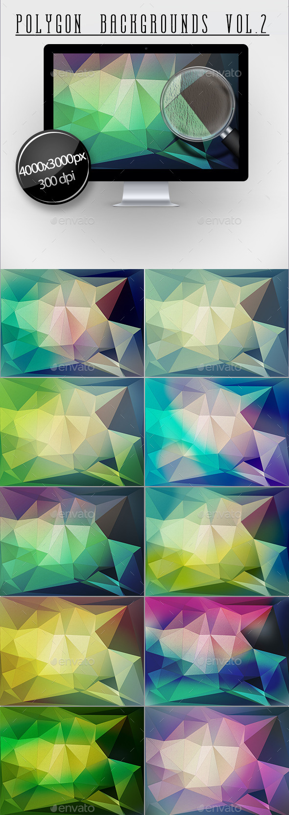 GraphicRiver Polygon Backgrounds Vol.2 11816757