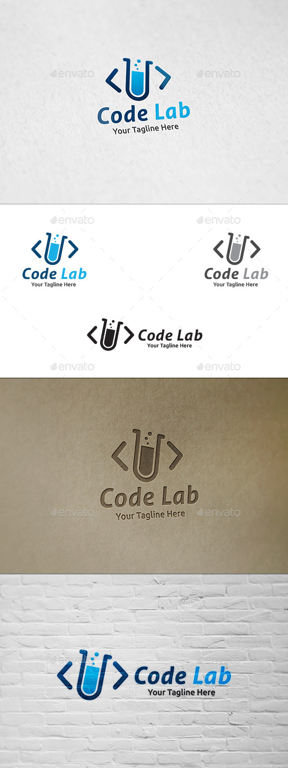GraphicRiver Code Lab Logo Template 11816764