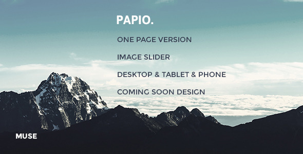 ThemeForest Papio Muse Responsive Template 11816781