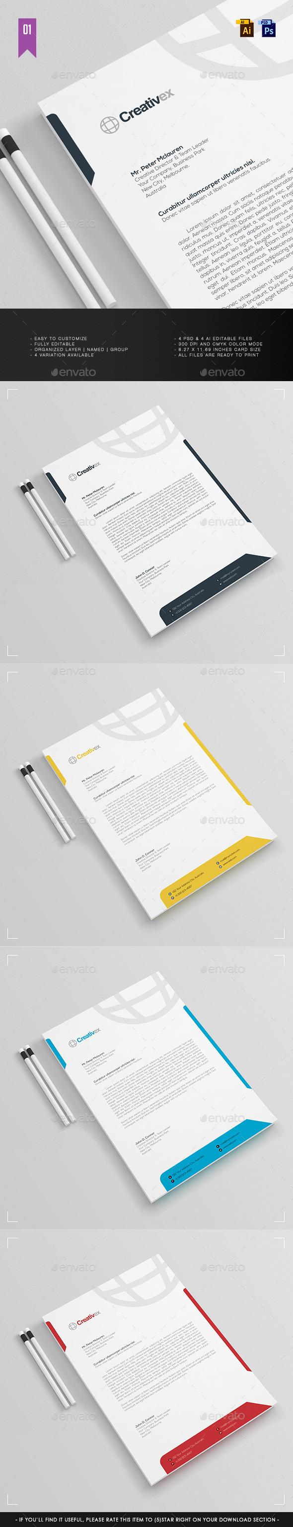 GraphicRiver A4 Business Letterhead V.001 11816798