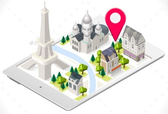 GraphicRiver Paris on a Tablet with Sacre Coeur 11816841