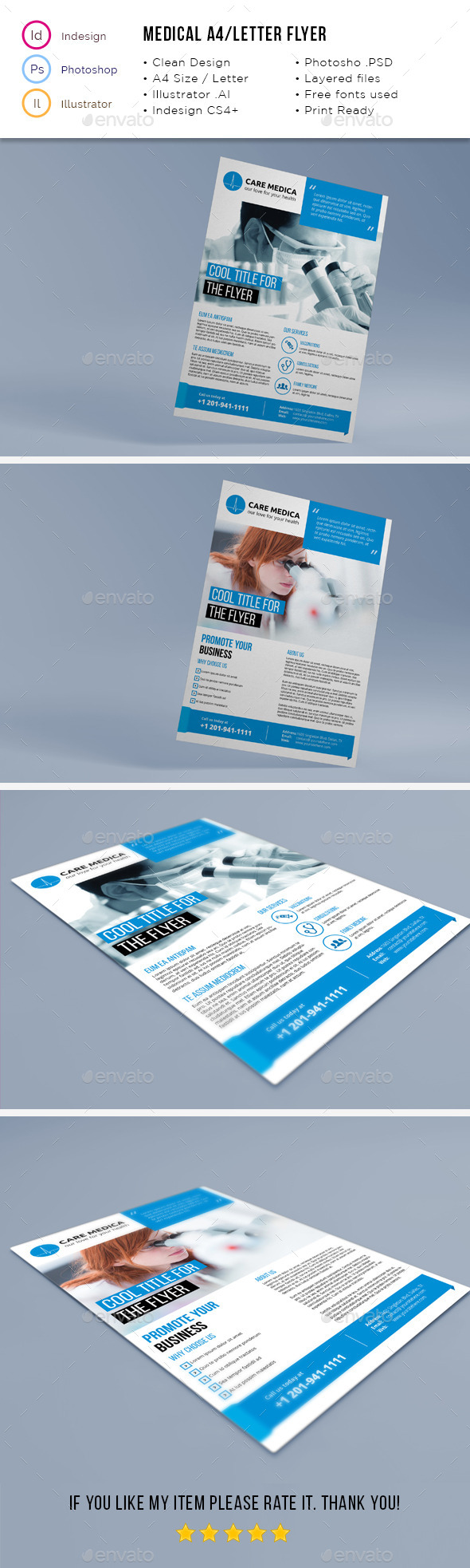 GraphicRiver Medical A4 Letter Flyer 11816963