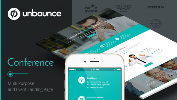 ThemeForest Conference Unbounce Landing Page 11730164
