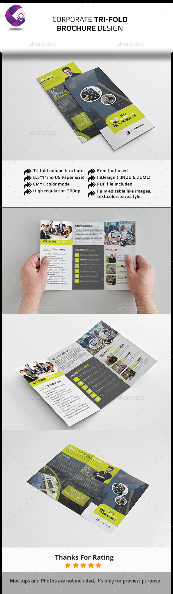 GraphicRiver Tri Fold Brochure InDesign Template 11817307