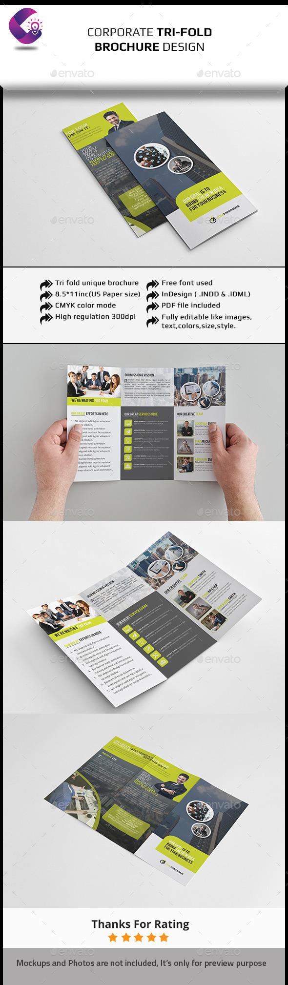GraphicRiver Tri Fold Brochure InDesign Template 11817307
