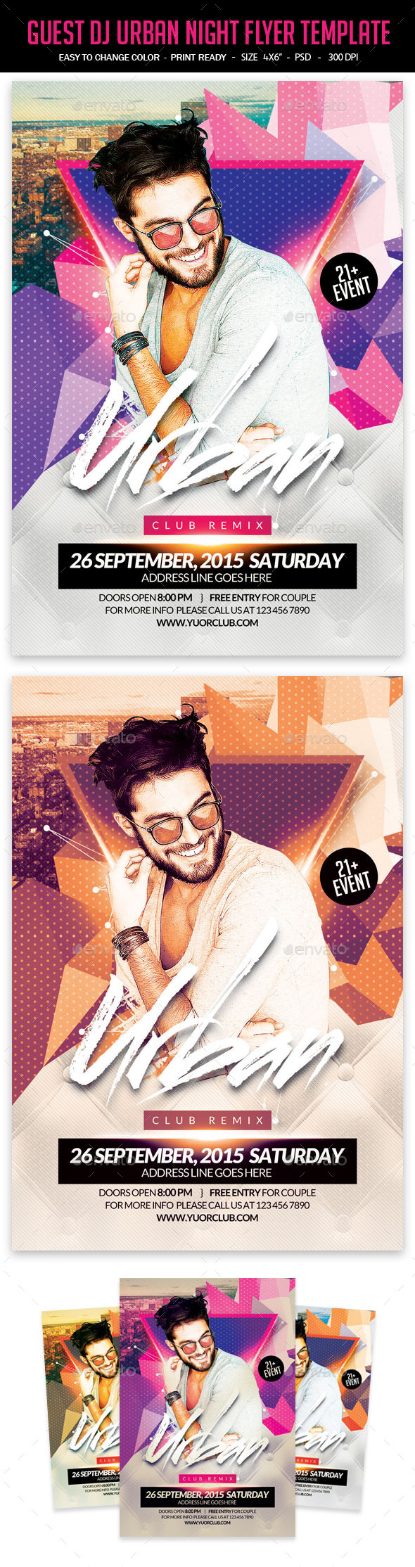 GraphicRiver Guest DJ Urban Night Flyer Template 11817408