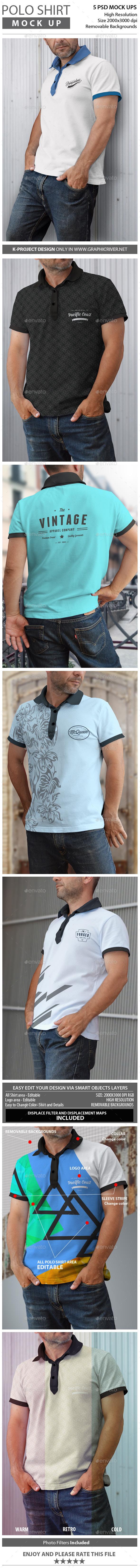 GraphicRiver Man Polo Shirt Mock Up 11817519