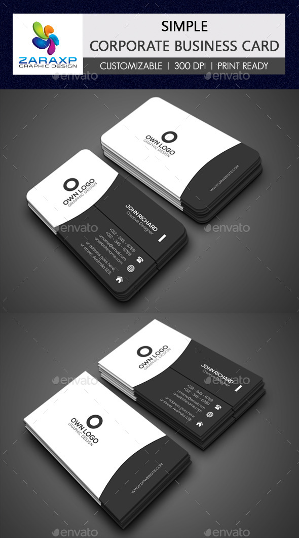 GraphicRiver Simple Corporate Business Card 11817595