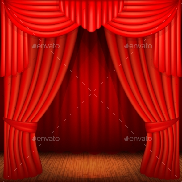 GraphicRiver Red Curtains 11817596