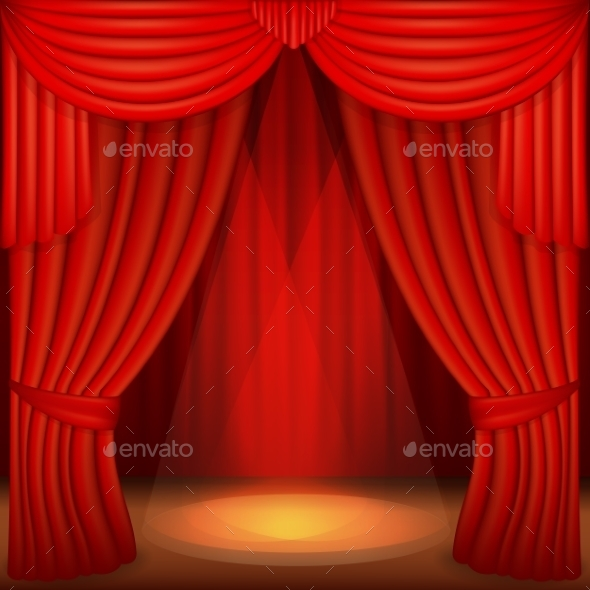 GraphicRiver Red Curtains 11817600