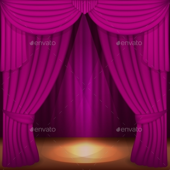 GraphicRiver Purple Curtains 11817605