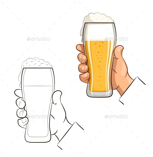 GraphicRiver Glass of Beer in Hand 11817781