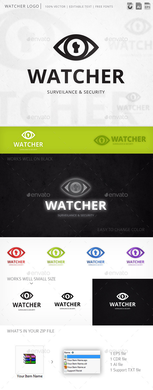 GraphicRiver Watcher Logo 11793739