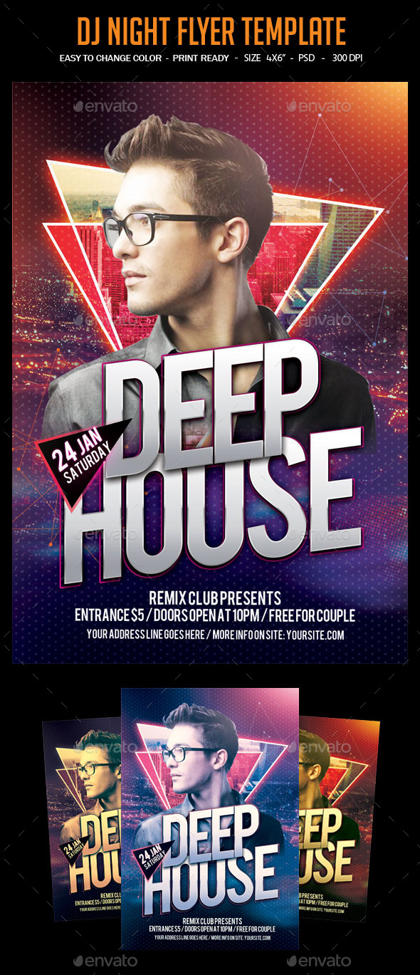 GraphicRiver Dj Night Flyer Template 11817961