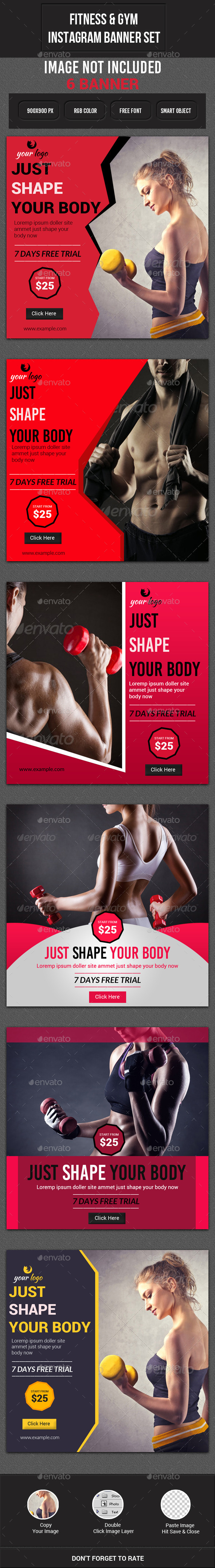 GraphicRiver Fitness & Gym Instagram Banner 11818099