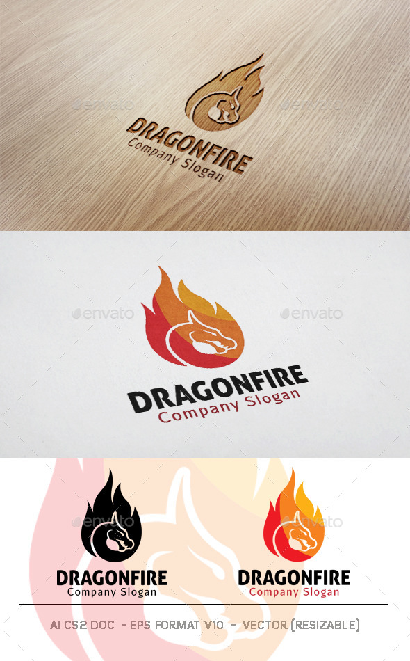 GraphicRiver Dragon Fire Logo 11818120