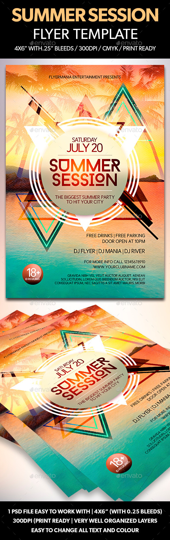 GraphicRiver Summer Session Flyer Template 11818804
