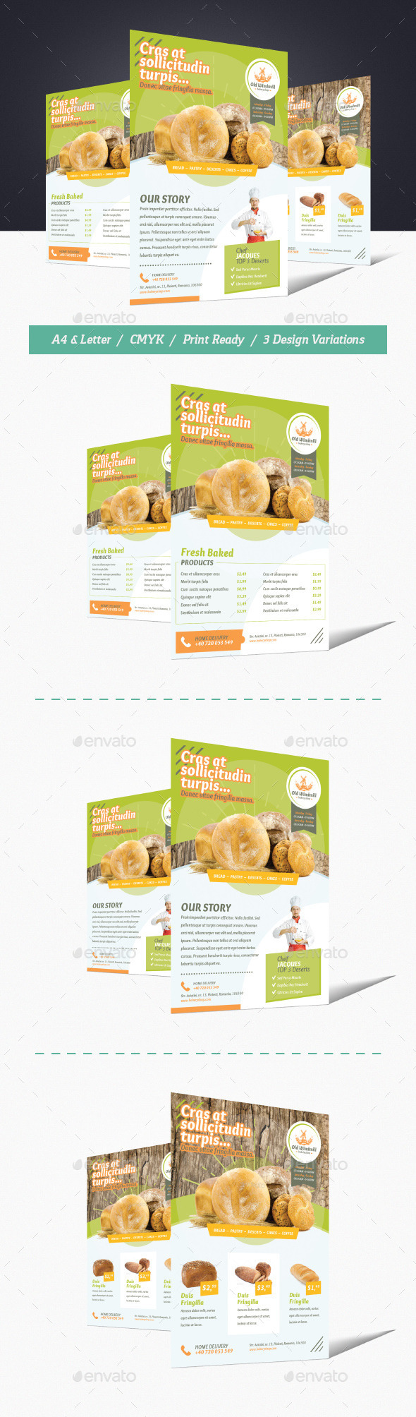 GraphicRiver Bakery Shop Flyer 11818851