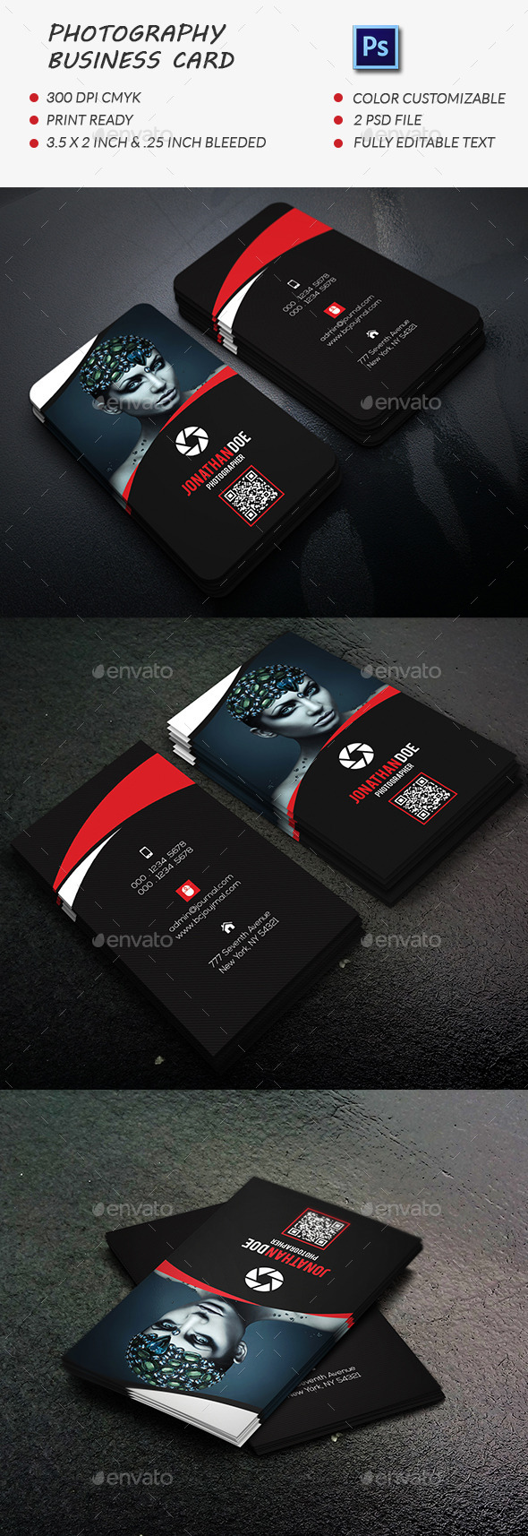 GraphicRiver Photography Business Card 11818888