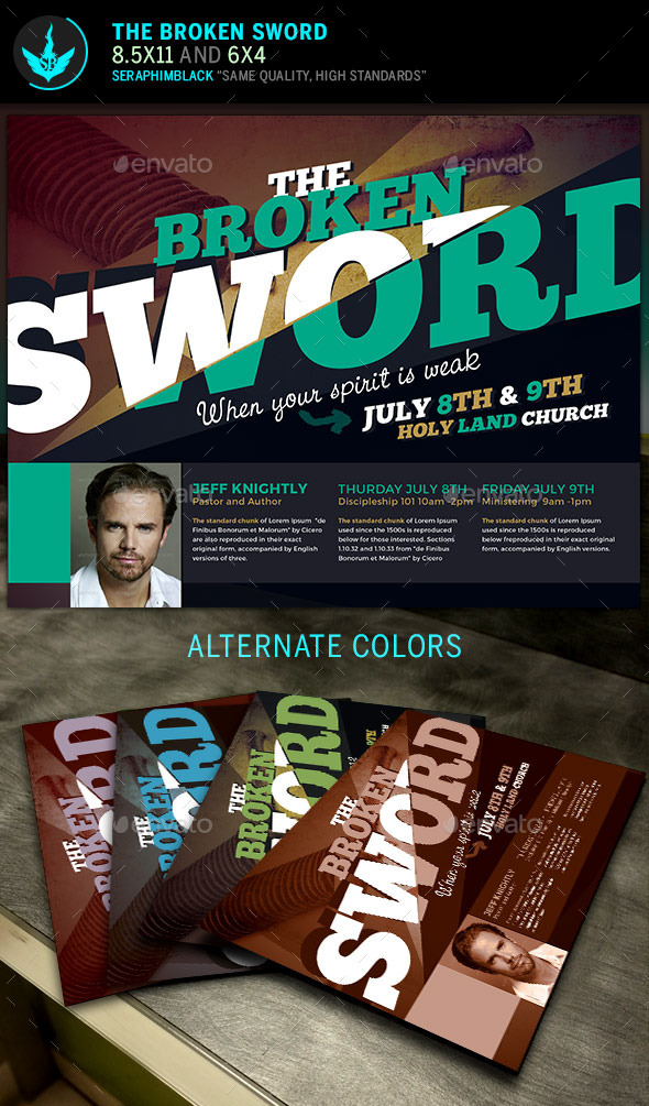GraphicRiver The Broken Sword Church Flyer Template 11818974