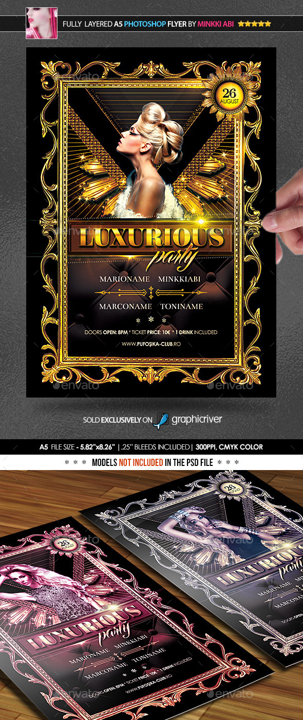 GraphicRiver Luxurious Party Poster Flyer 11819181