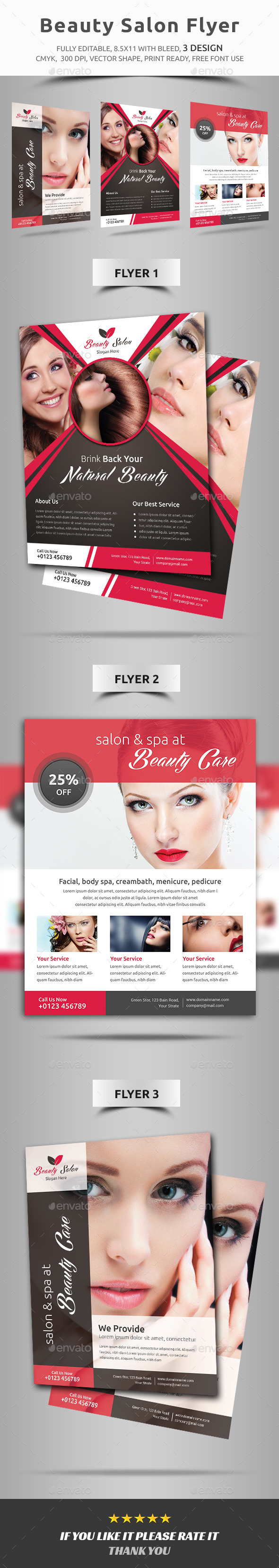 GraphicRiver Beauty Salon Flyer 11819252
