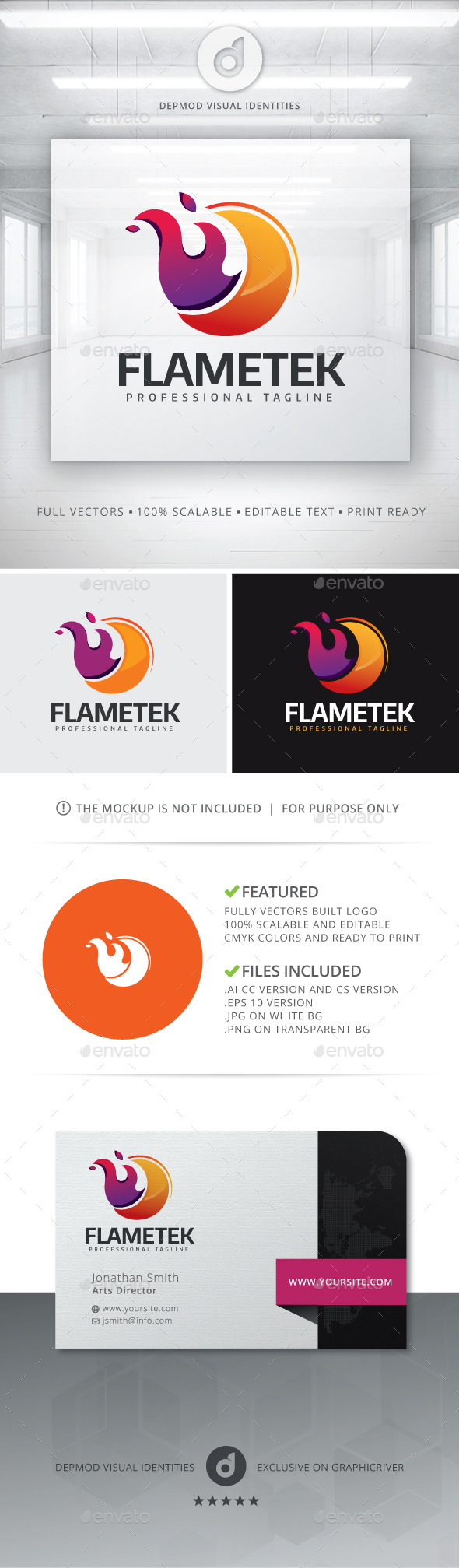 GraphicRiver Flametek Logo 11819475