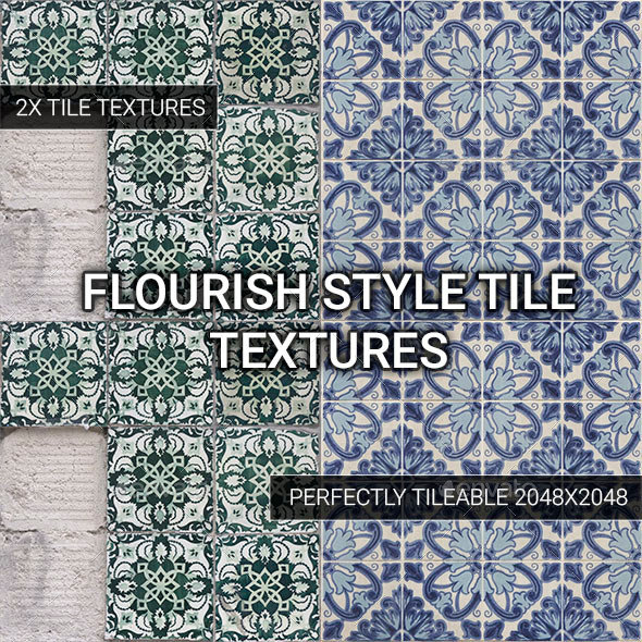3DOcean Flourish Style Tiles Vol 2 11819673