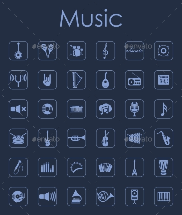 GraphicRiver Set of Music Icons 11820020