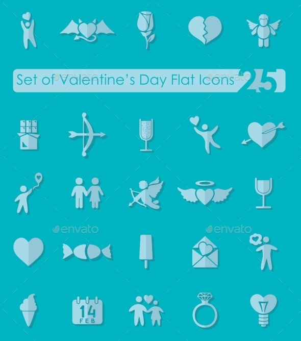 GraphicRiver Set Of Valentine s Day Icons 11820079