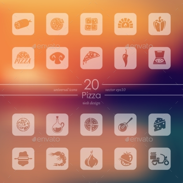 GraphicRiver Set Of Pizza Icons 11820247