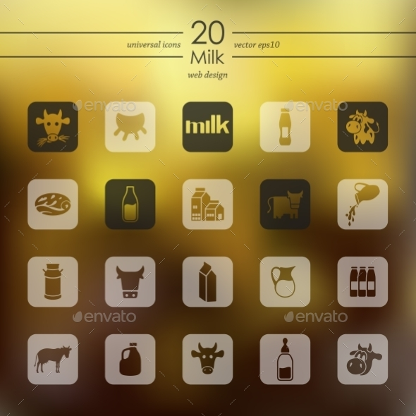 GraphicRiver Set Of Milk Icons 11820292