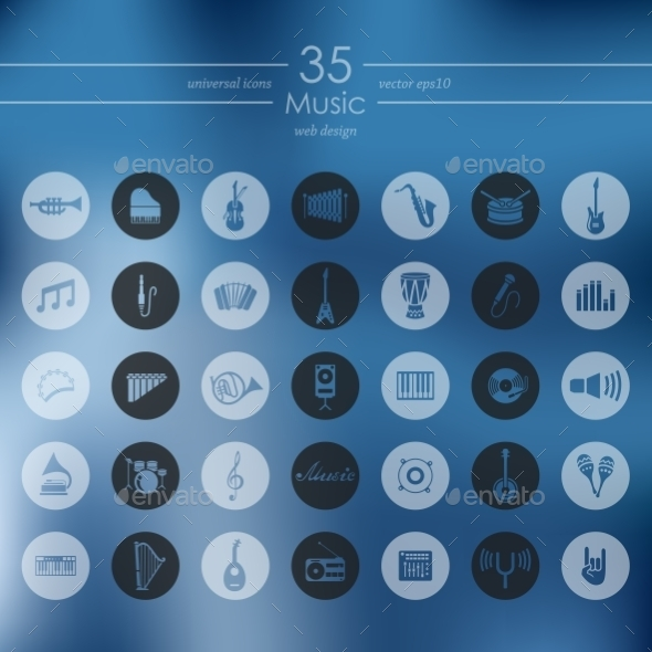 GraphicRiver Set Of Music Icons 11820340