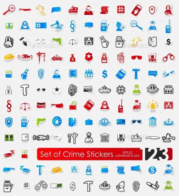 GraphicRiver Set Of Crime Stickers 11820424