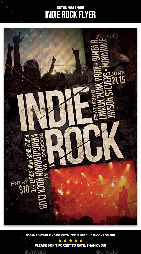 GraphicRiver Indie Rock Flyer 11820434