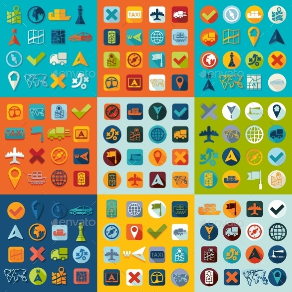 GraphicRiver Set Of Navigation Icons 11820466