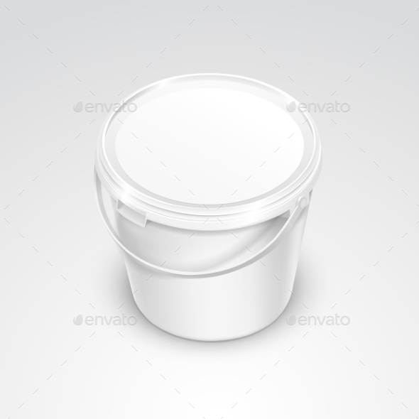 GraphicRiver Plastic Bucket Container Packaging 11820702