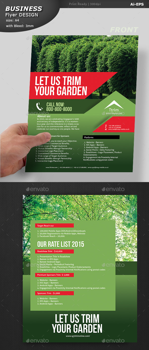 GraphicRiver Lawn care Flyer 11798328