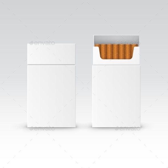 GraphicRiver Vector Blank Pack Package Box Of Cigarettes 11820927