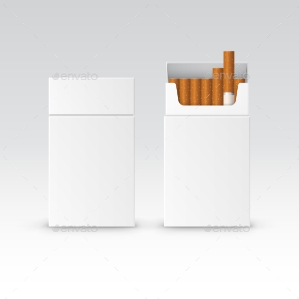 GraphicRiver Vector Blank Pack Package Box Of Cigarettes 11820929