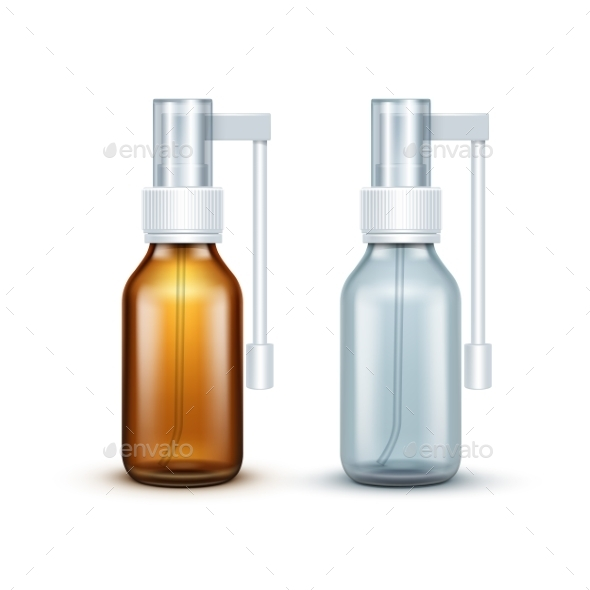 GraphicRiver Blank Glass Medical Spray Bottle Isolated 11820953