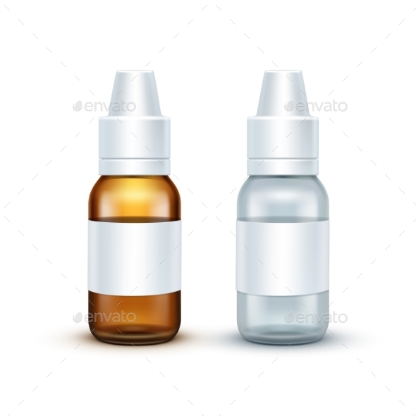 GraphicRiver Vector Blank Glass Medical Spray Bottle Isolated 11820956