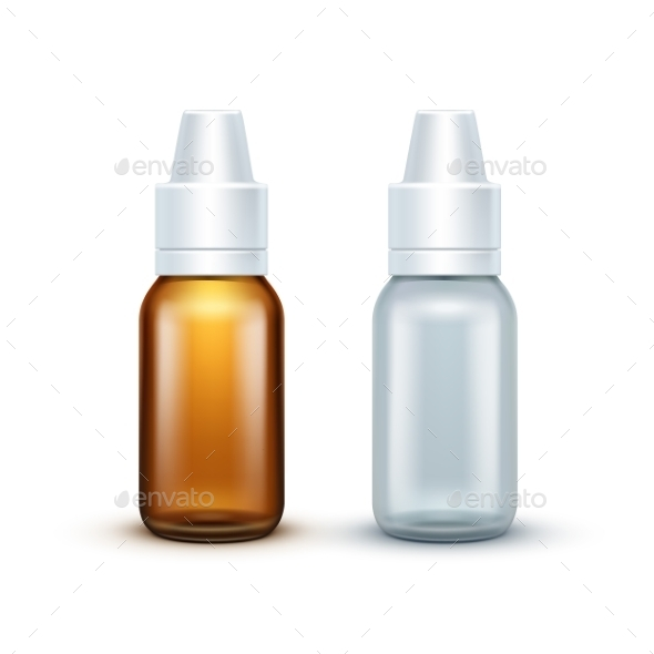 GraphicRiver Vector Blank Glass Medical Spray Bottle Isolated 11820958