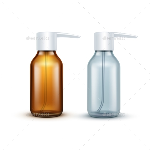 GraphicRiver Vector Blank Glass Medical Spray Bottle Isolated 11820962