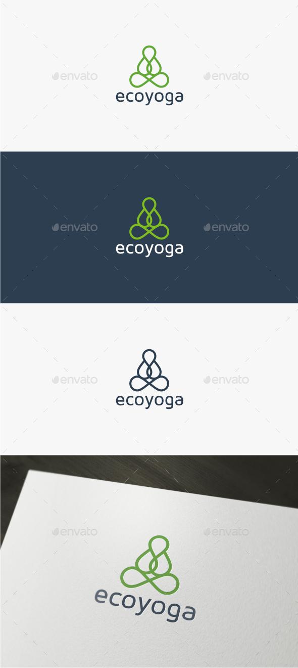 GraphicRiver Eco Yoga Logo Template 11809911