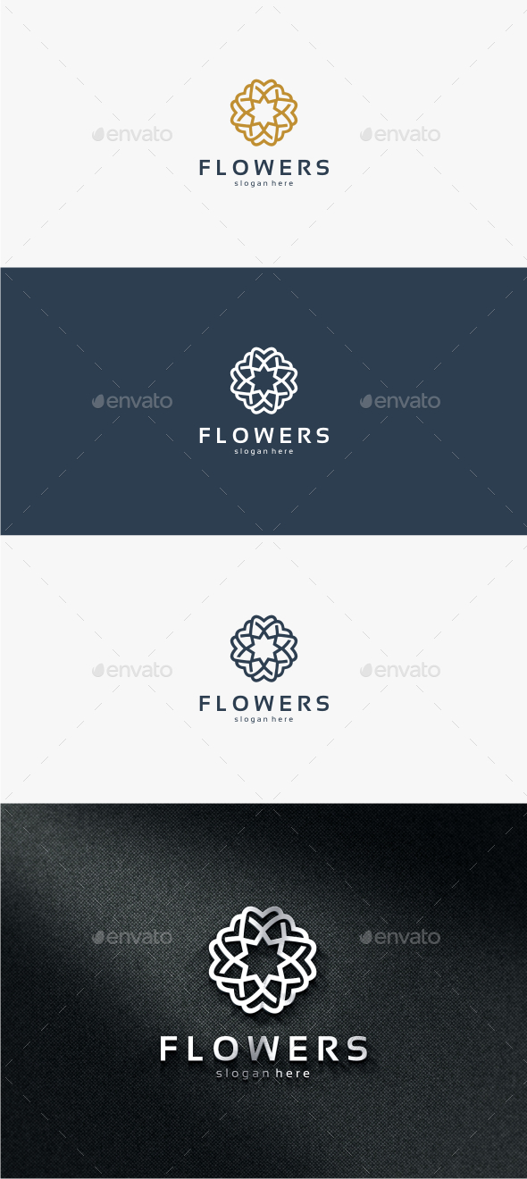 GraphicRiver Flowers Logo Template 11821462