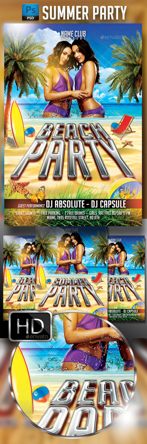 GraphicRiver Summer Party Flyer Template 4 11821659