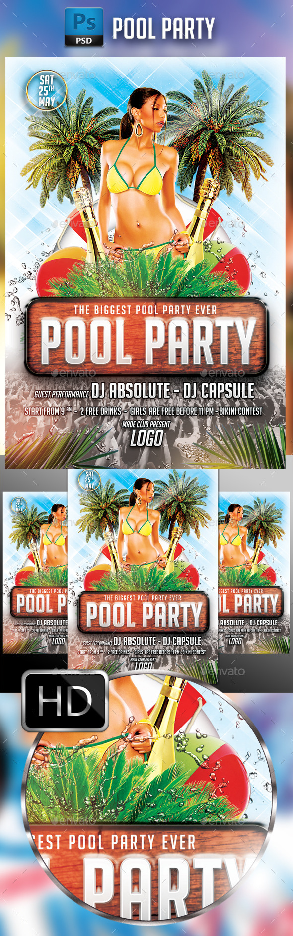 GraphicRiver Pool Party 11821790