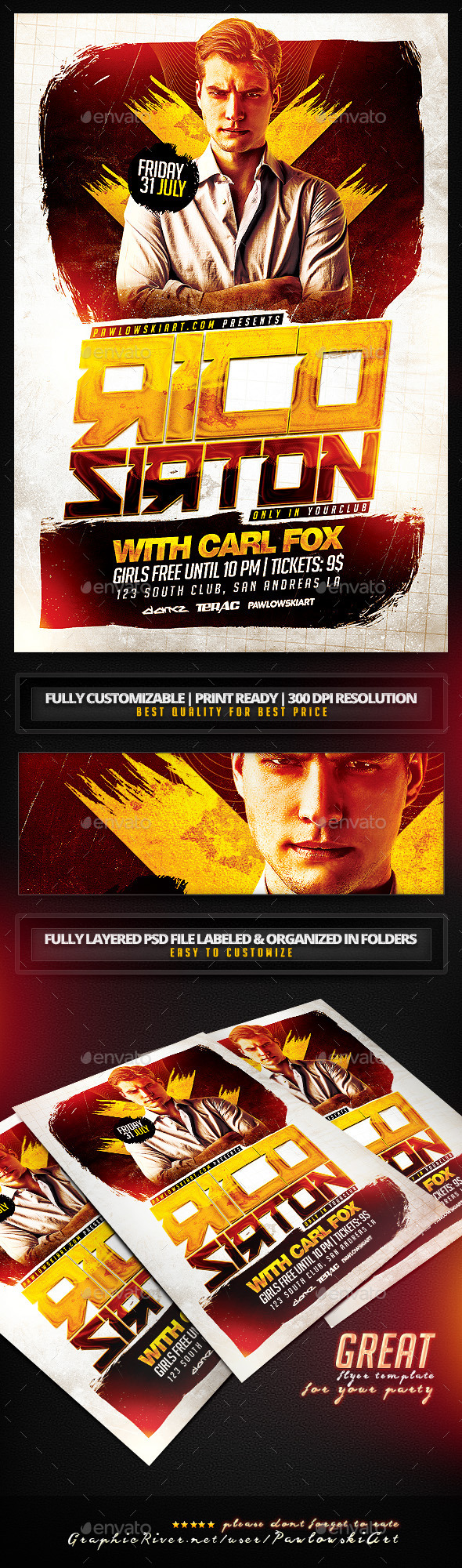 GraphicRiver Special Guest DJ v4 PSD Flyer Template 11821896